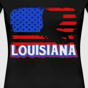 Louisiana Flag Shirt - Women's Premium T-Shirt