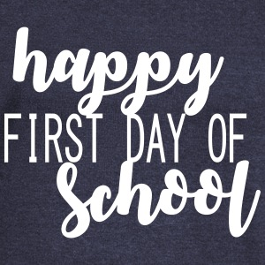 happy_first_day_of_school Long Sleeve Shirts - Women's Wideneck Sweatshirt