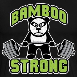 Panda Bear Deadlift - Bamboo Strong T-Shirts - Men's Premium T-Shirt