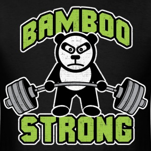 Panda Bear Deadlift - Bamboo Strong T-Shirts - Men's T-Shirt