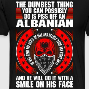 The Dumbest Thing An Albanian T-Shirts - Men's Premium T-Shirt
