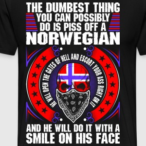 The Dumbest Thing A Norwegian T-Shirts - Men's Premium T-Shirt