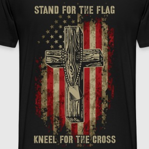 Stand for the flag. Kneel for the cross. - Men's Premium T-Shirt