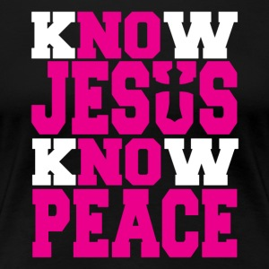 Know Jesus Know Peace Christian t-shirt - Women's Premium T-Shirt