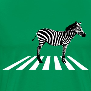 Zebra on pedestrian crossing Shirt - Men's Premium T-Shirt