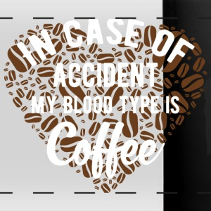 In case of accident my blood type is Coffee. - Full Color Panoramic Mug