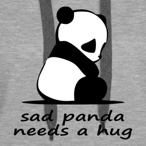 sad panda needs a hug - Women's Premium Hoodie