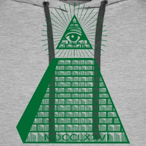 Eye Of Providence Green Men's Long Sleeve - Men's Premium Hoodie