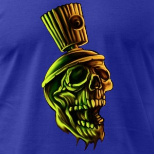 spray can cap skull T-Shirts - Men's T-Shirt by American Apparel