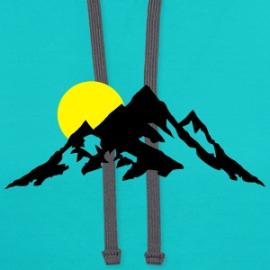 Moutain and Sunrise, Mountains Hoodies - Contrast Hoodie