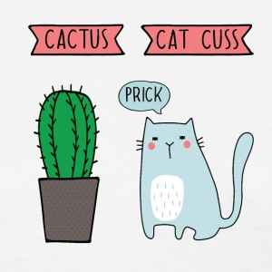 Funny cat and cactus T-Shirts - Women's T-Shirt