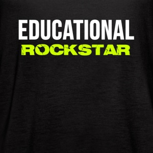 Trendy Casual School Teachers EDUCATIONAL ROCKSTAR Tanks - Women's Flowy Tank Top by Bella