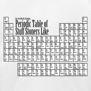 periodic table 4 stoners T-Shirts - Men's T-Shirt by American Apparel