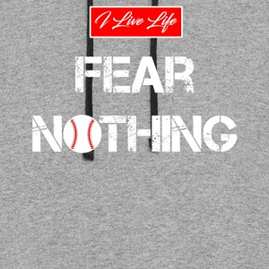 I Live Life Sports Fear Nothing Baseball Graphic Hoodies - Colorblock Hoodie