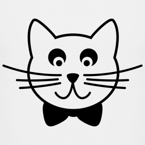 Cat with tie bow Outline Kids' Shirts - Kids' Premium T-Shirt