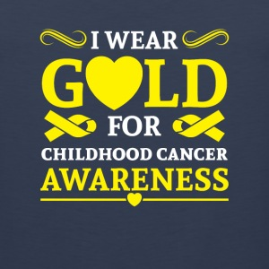 I wear Gold for childhood cancer awareness Sportswear - Men's Premium Tank