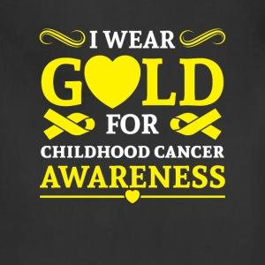 I wear Gold for childhood cancer awareness Aprons - Adjustable Apron