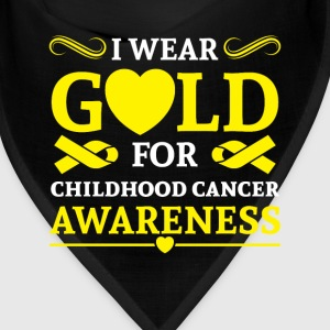 I wear Gold for childhood cancer awareness Caps - Bandana