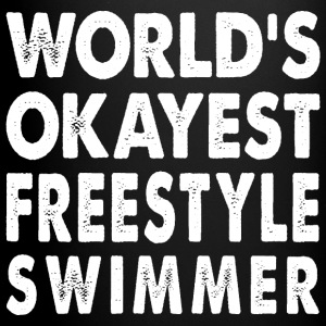 World's Okayest Freestyle Swimmer Freestyler Mugs & Drinkware - Full Color Mug