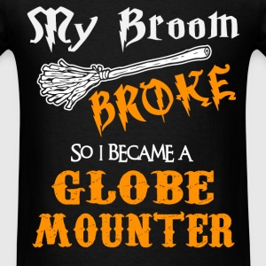 Globe Mounter - Men's T-Shirt