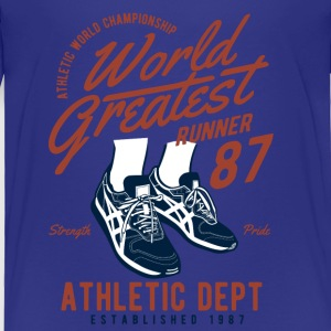World Greatest Runner - Running Shoes, Runner, Athlete Baby & Toddler Shirts - Toddler Premium T-Shirt