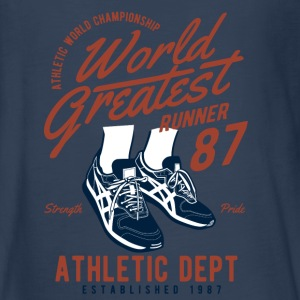 World Greatest Runner - Running Shoes, Runner, Athlete Kids' Shirts - Kids' Premium Long Sleeve T-Shirt