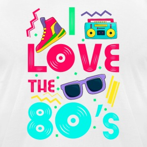 I love the 80s - cool and crazy design T-Shirts - Men's T-Shirt by American Apparel
