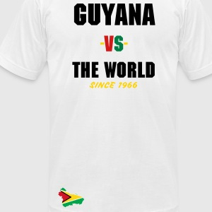 Guyana -vs- The World - Men's T-Shirt by American Apparel