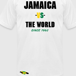 Jamaica -vs- The World - Men's T-Shirt by American Apparel