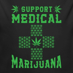 Support Medical Marijuana Baby Bodysuits - Long Sleeve Baby Bodysuit