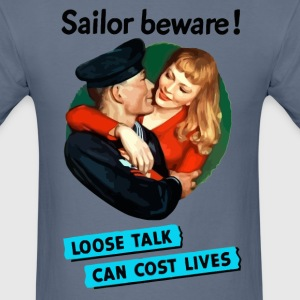 Sailor beware WW2 propaganda - Men's T-Shirt