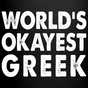 World's Okayest Greek Greece  Mugs & Drinkware - Full Color Mug