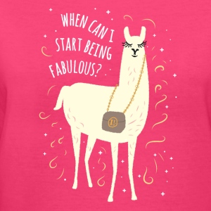 Fabulous Llama - Women's V-Neck T-Shirt