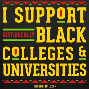 I Support HBCUs - Red, Black, Green, and Gold Tote - Eco-Friendly Cotton Tote