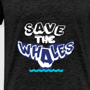 Whales - Save the whales. - Men's Premium T-Shirt