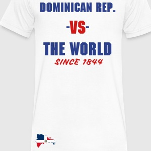 Dominican Republic -vs- The World - Men's V-Neck T-Shirt by Canvas