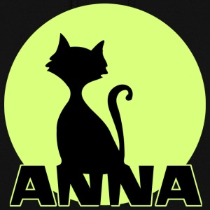 Anna first name birthday gift moonlight cat Hoodies - Women's Hoodie