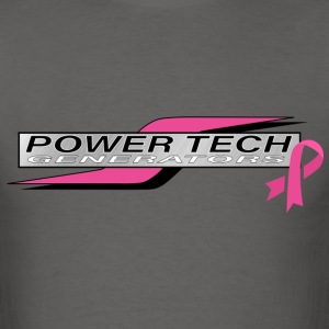 Power Tech Breast Cancer Pink - Men's T-Shirt