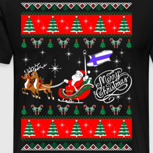 Ugly Merry Christmas Finland T-Shirts - Men's Premium T-Shirt