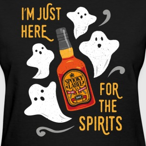 I'm here for the spirits. Funny Halloween Design. T-Shirt ...