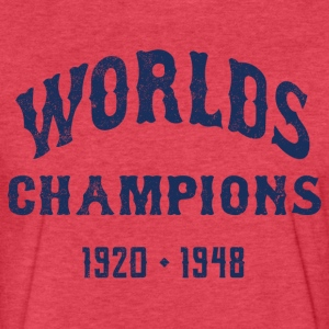Worlds Champions Indians T-Shirt - Heather Red - Fitted Cotton/Poly T-Shirt by Next Level