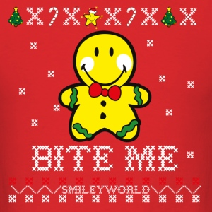 SmileyWorld Christmas Gingerbread Man - Men's T-Shirt