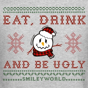 SmileyWorld Christmas Snowman Eat Drink Be Ugly - Crewneck Sweatshirt