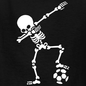 Dab dabbing skeleton football (soccer) Kids' Shirts - Kids' T-Shirt