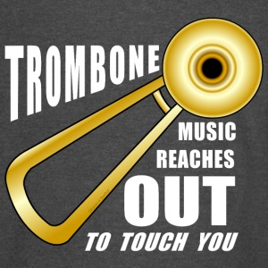 Trombone Reaches Out White Text T-Shirts - Vintage Sport T-Shirt