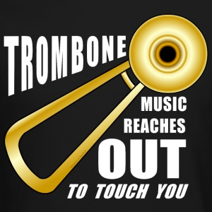 Trombone Reaches Out White Text Long Sleeve Shirts - Crewneck Sweatshirt