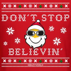 SmileyWorld Christmas Santa Don't Stop Believing - Crewneck Sweatshirt