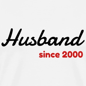 Marriage Wedding Love Mariage Husband Since 2000 T-Shirts - Men's Premium T-Shirt