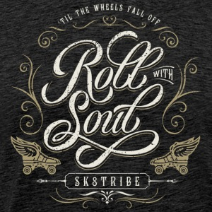 Vintage Flourish Roll With Soul - Unisex - Men's Premium T-Shirt