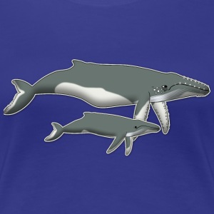 humpback whale and baby T-Shirts - Women's Premium T-Shirt